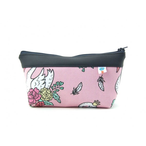 Trousse fille cygnes roses