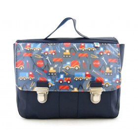 Cartable bleu tractopelle