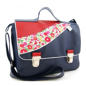 Sac cartable en liberty Betsy