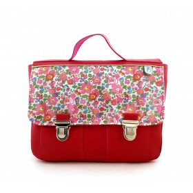 Cartable rose en liberty Betsy